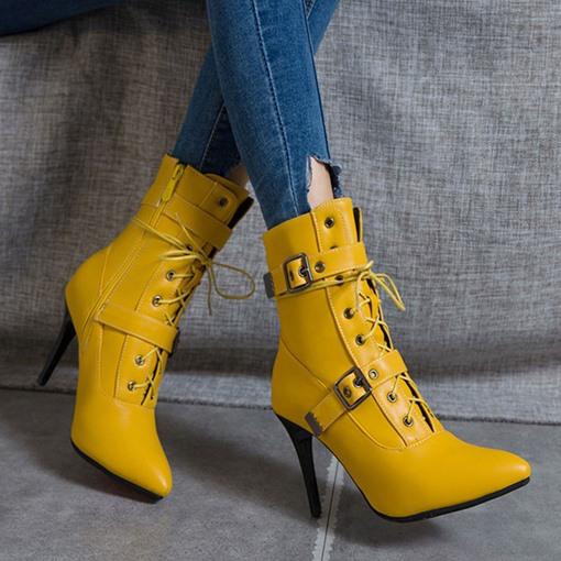 حذاء بكعب خنجر وسستة جانبية من tbdress