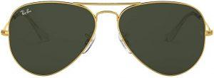 نظارة شمسية من راي بان باطار معدني كبير للرجال