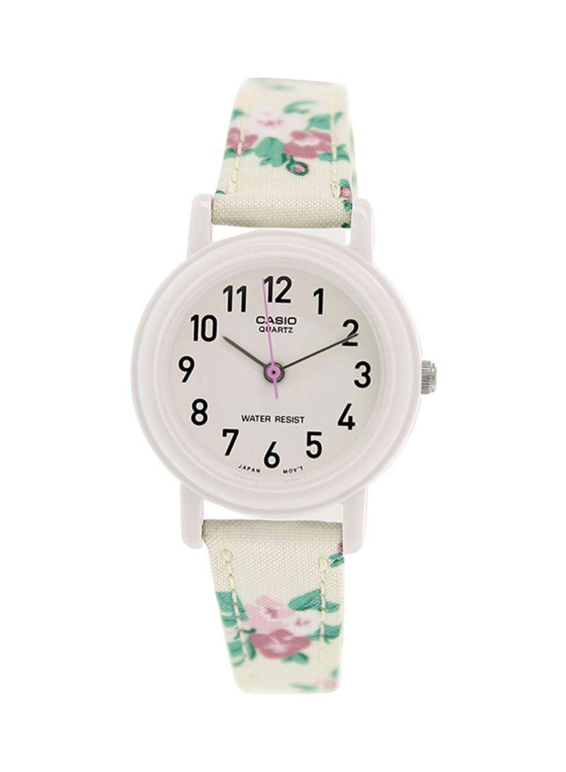 ساعة يد جلدية للنساء من كاسيو من نون مصر