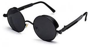 نظارات شمس دائرية معدنية بتصميم كلاسيكي