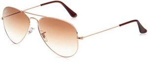 نظارة شمسية من راي بان بإطار معدني كبير للرجال