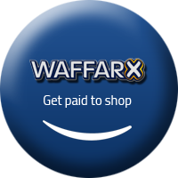 Shop and Earn Cashback Throw WaffarX