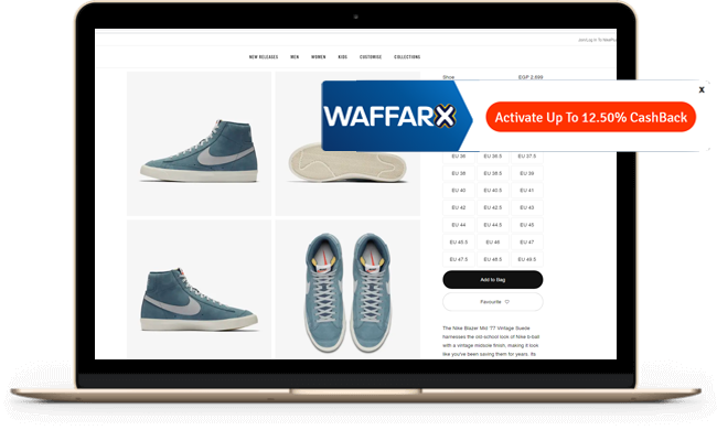 Get Cash Back on every purchase at WaffarX!